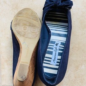 American Eagle Outfitters Shoes - American Eagle Denim Wedge Sandals